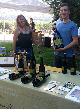 Judy and Cooper at Grape-to-Glass 2013