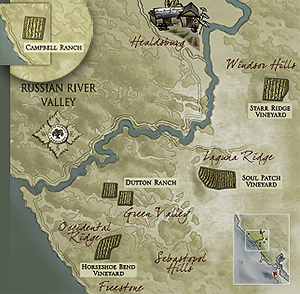 Campbell Ranch highlighted within our Sonoma Coast range